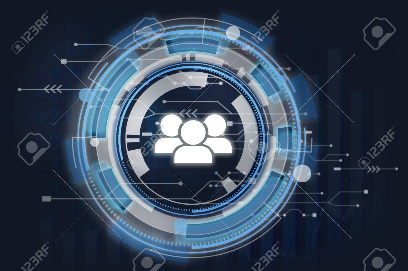 Information Technology Graphic People Team Icon Concept Stock Photo