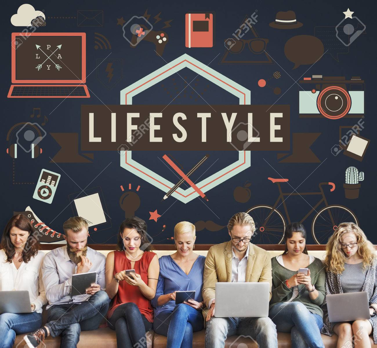 Lifestyle Leisure Lifestyle Hipster Concept Banque d'images - 58882883
