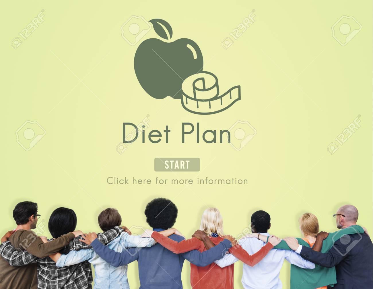 Diat Plan Gesunde Ernahrung Essen Essen Wahl Konzept Lizenzfreie