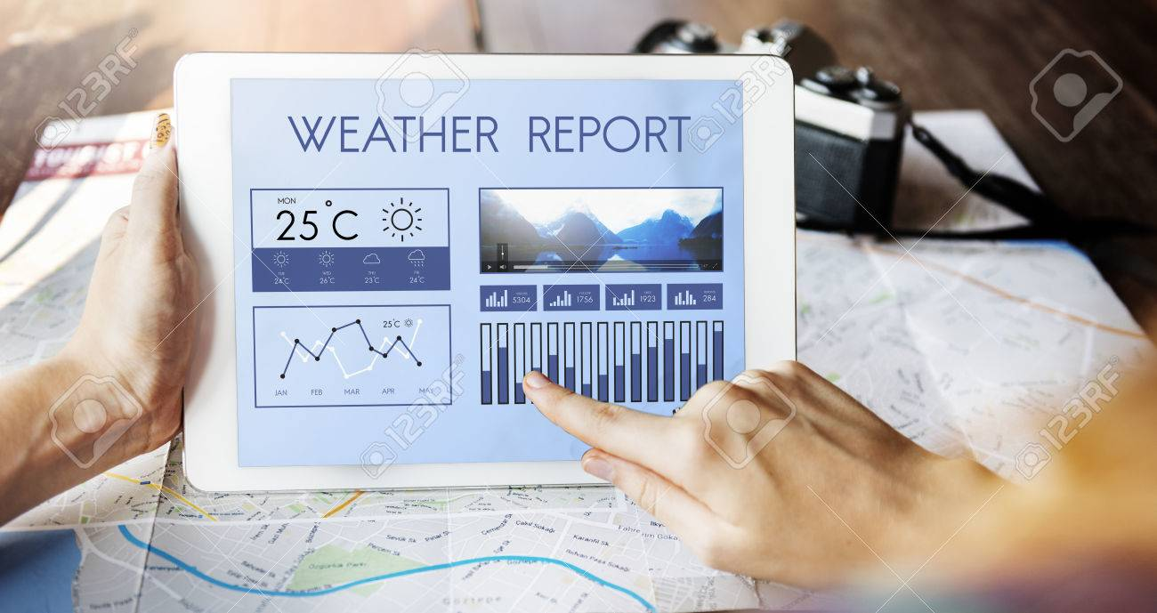 Weather Condition News Report Climate Forecasting Meteorology Temperature Concept - 59237632