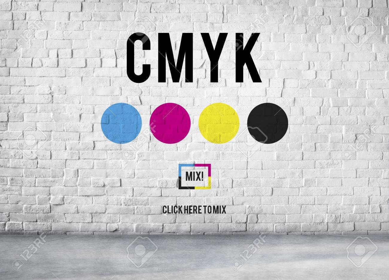 cmyk color printing ink color model concept stock photo picture