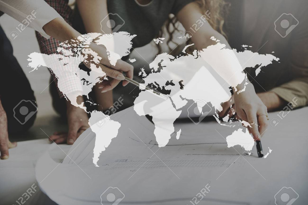 World Map Globalization Cartography Geography Connection Concept - 59277319
