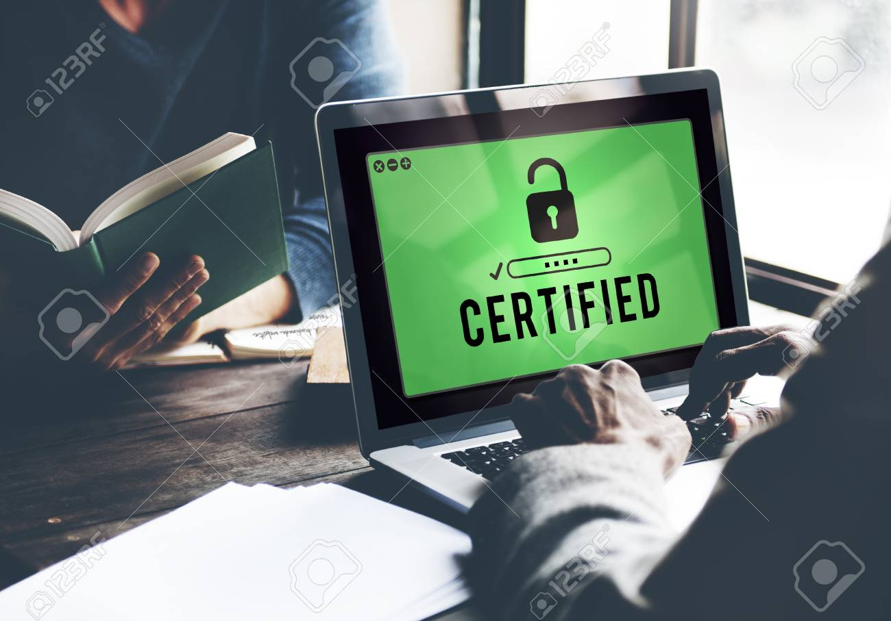 Certified Approved Comfirmation Guarantee Concept - 59281487