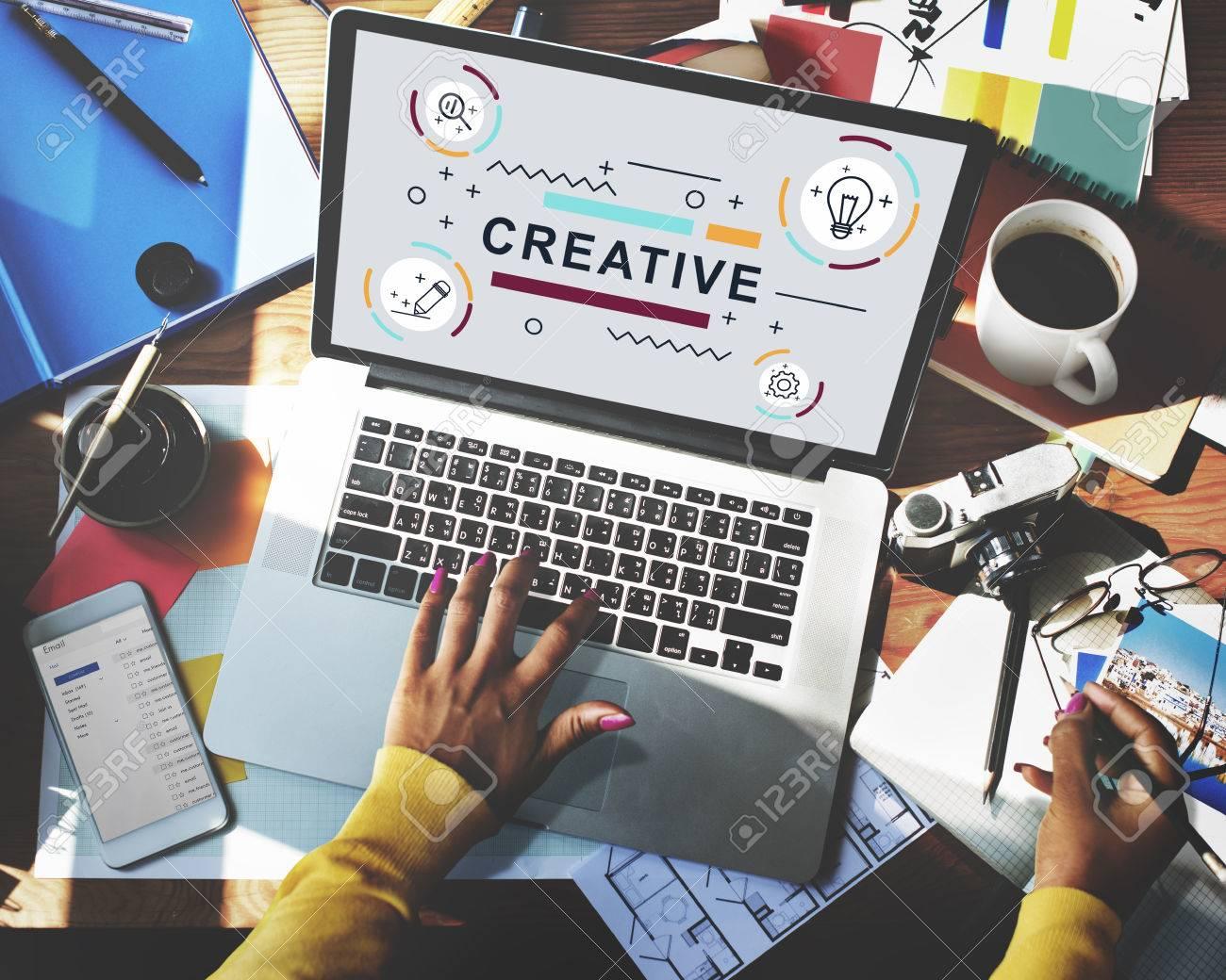 Design Creative Imagination Ideas Graphic Concept - 59432454