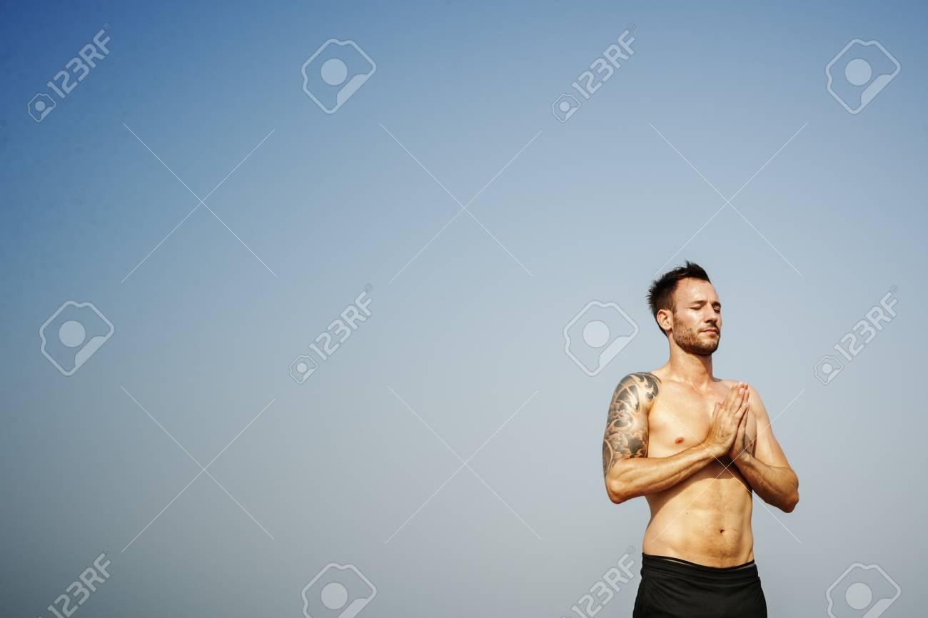 868a5606709b Stock Photo - Yoga Zen Workout Fitness Wellness Relaxation Concept