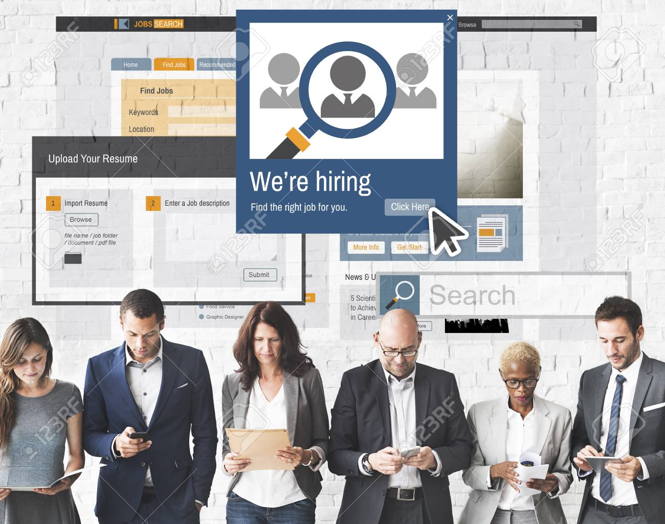 stock photo we are hiring career headhunting job occupation concept