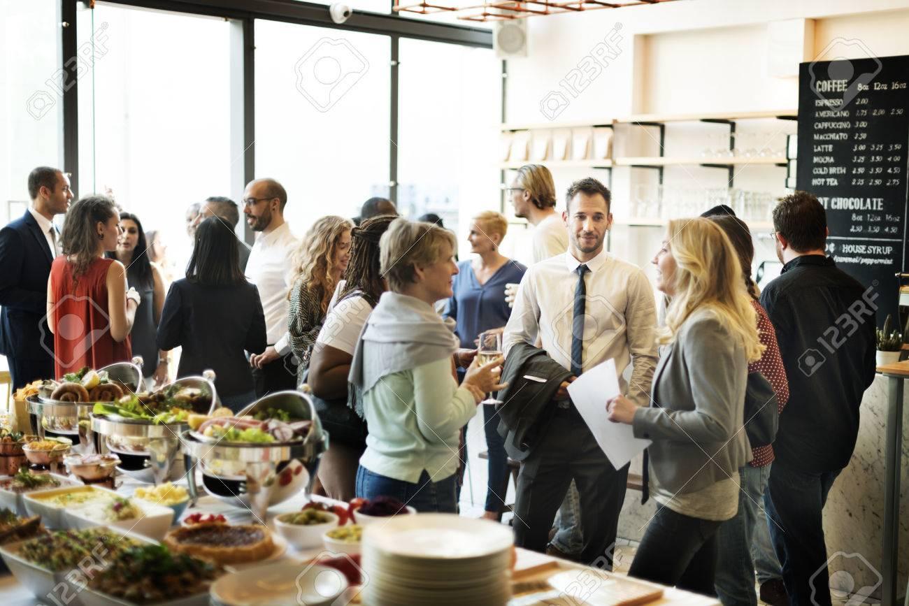 Business Meeting Eating Cheers Happiness Concept Standard-Bild - 60295132