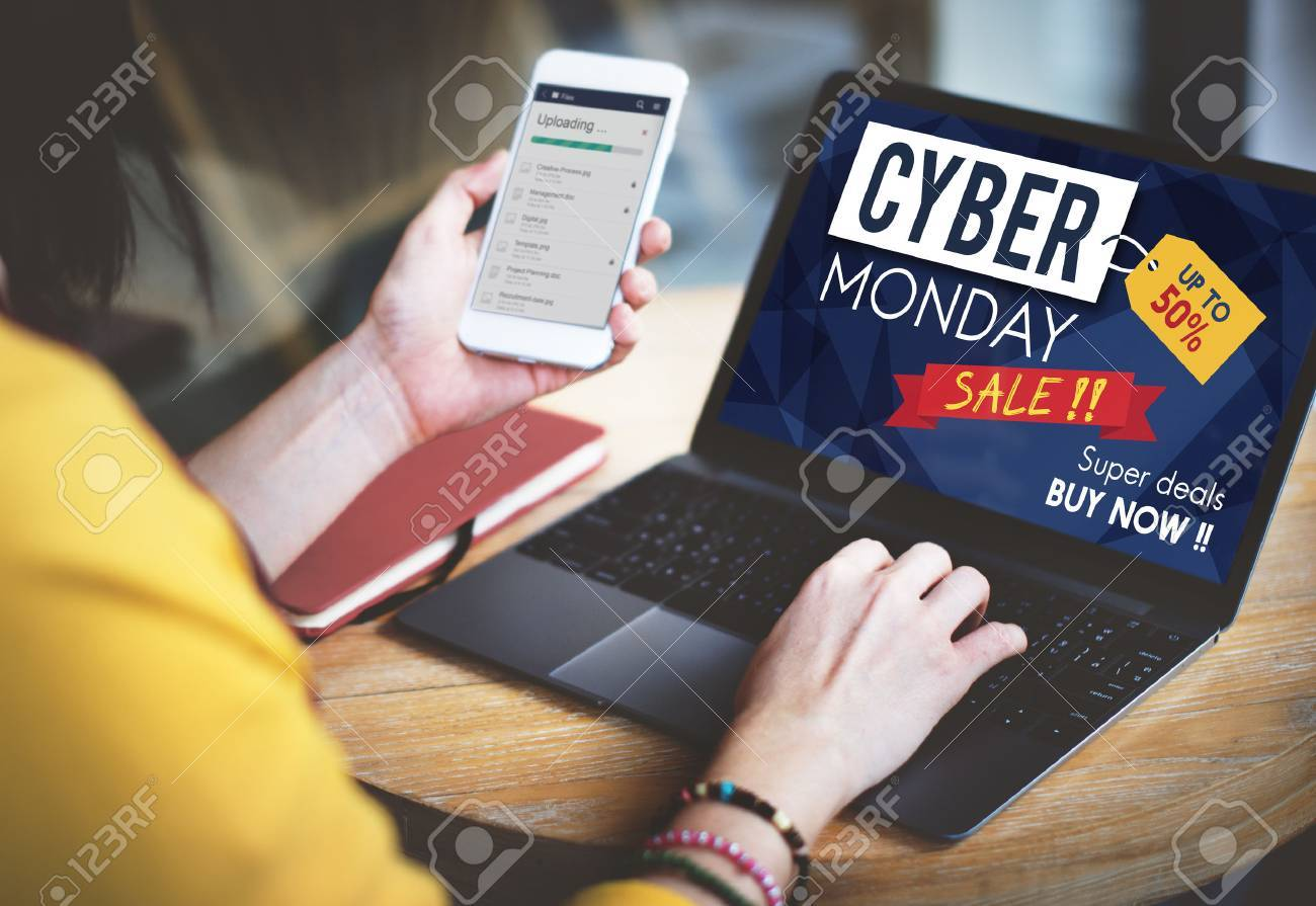 Cyber Monday Sale Discount Clearance Sale Concept Standard-Bild - 60290713