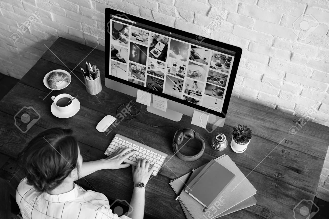 Ideas Creative Occupation Design Studio Computer Working Concept - 60570264