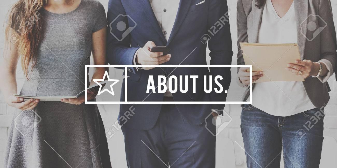 À propos de Concept Nous contacter Business Information Banque d'images - 61390192