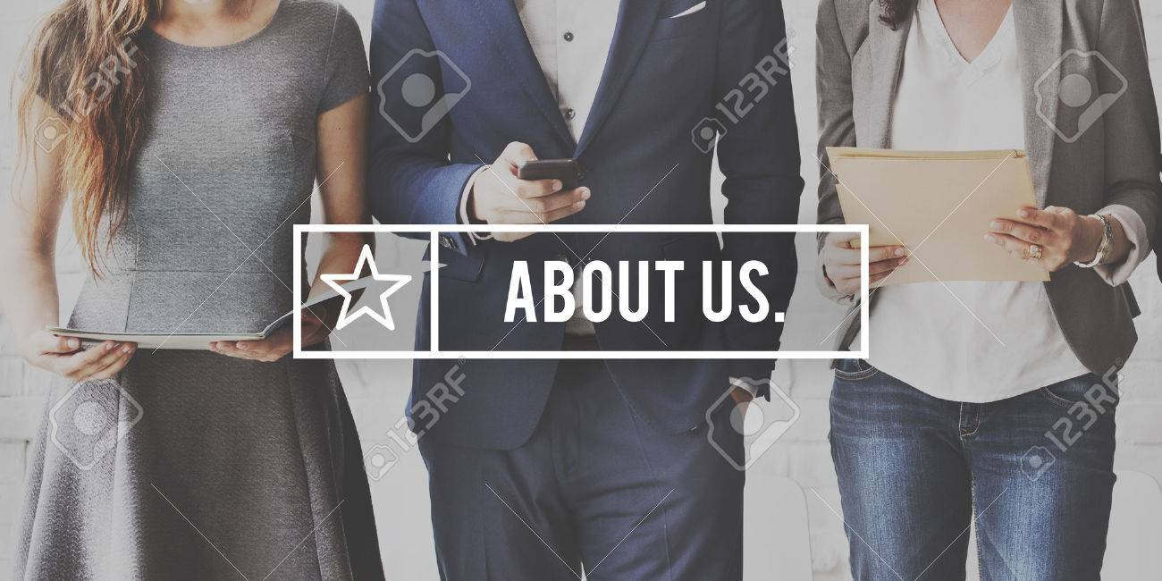 About Us Contact Information Business Concept Standard-Bild - 61390192