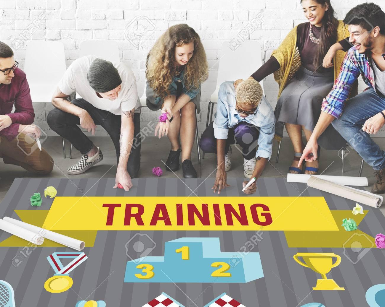 Winner Training Team Sport Event Graphic Concept - 61422468
