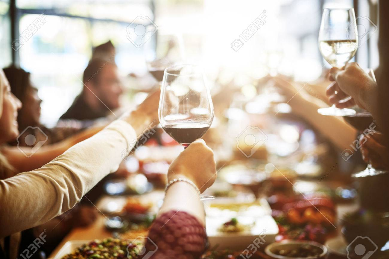 Dinner Dining Wine Cheers Party Concept Banque d'images - 61505091