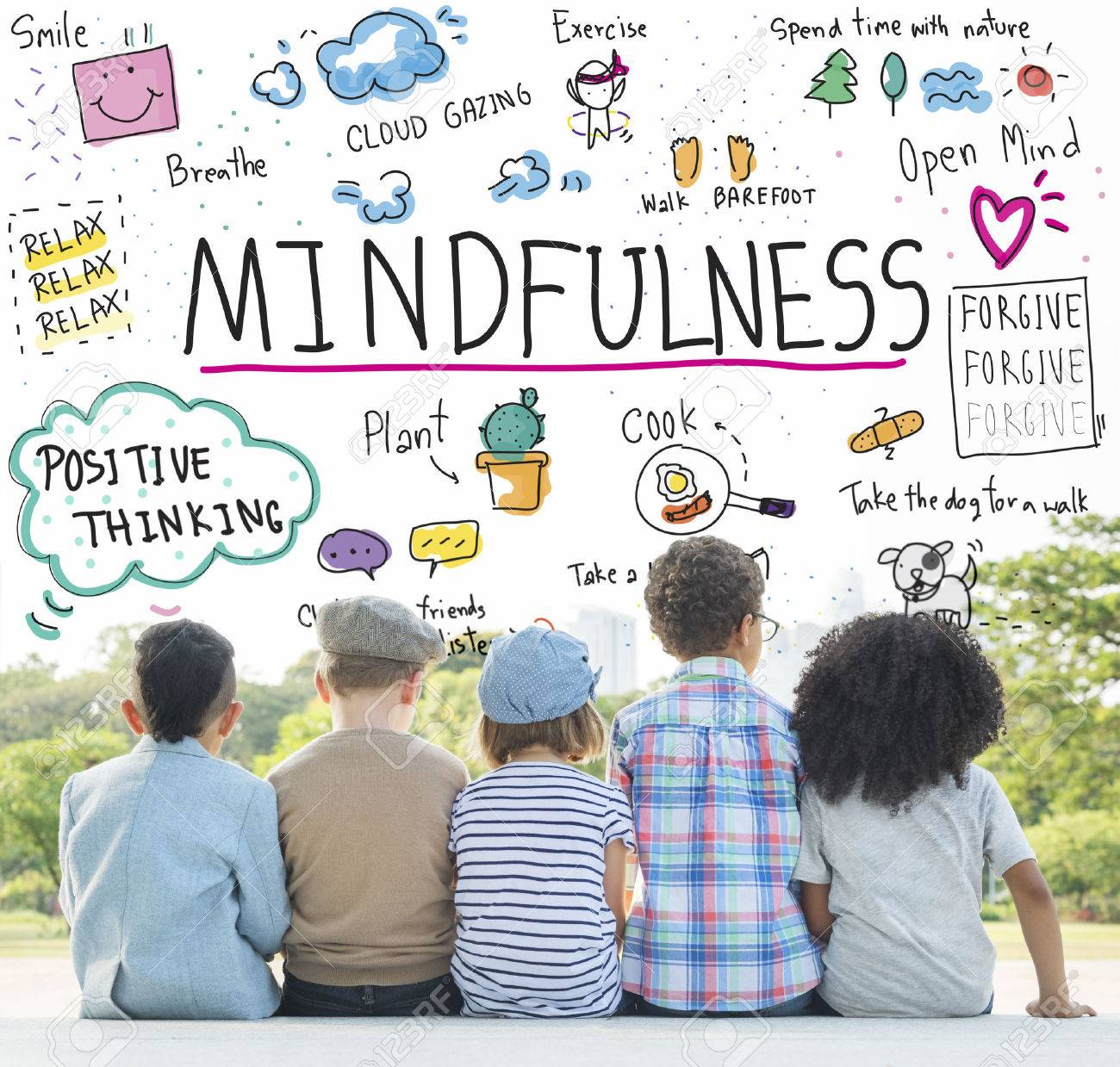 Mindfulness Optimisme Relax Harmony Concept Banque d'images - 62068068