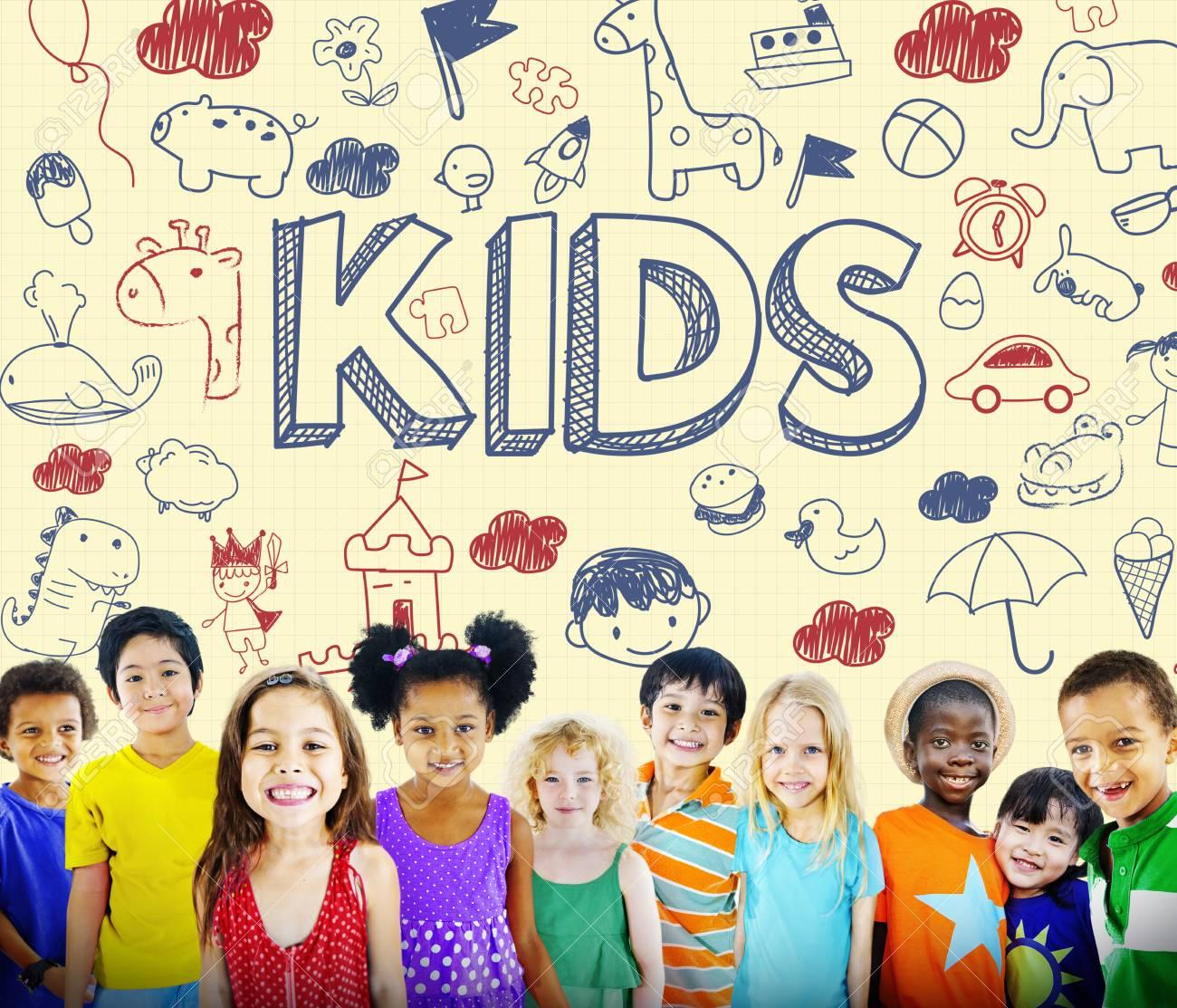 Kids Children Joy Happy Child Concept - 62036315