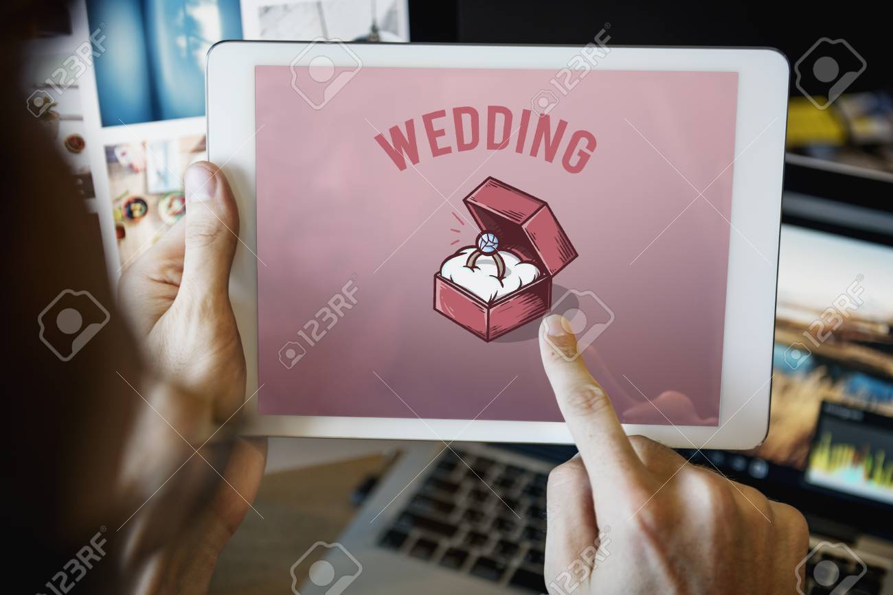 Wedding Ring Box Proposal Graphic Concept Stock Photo, Picture And ...