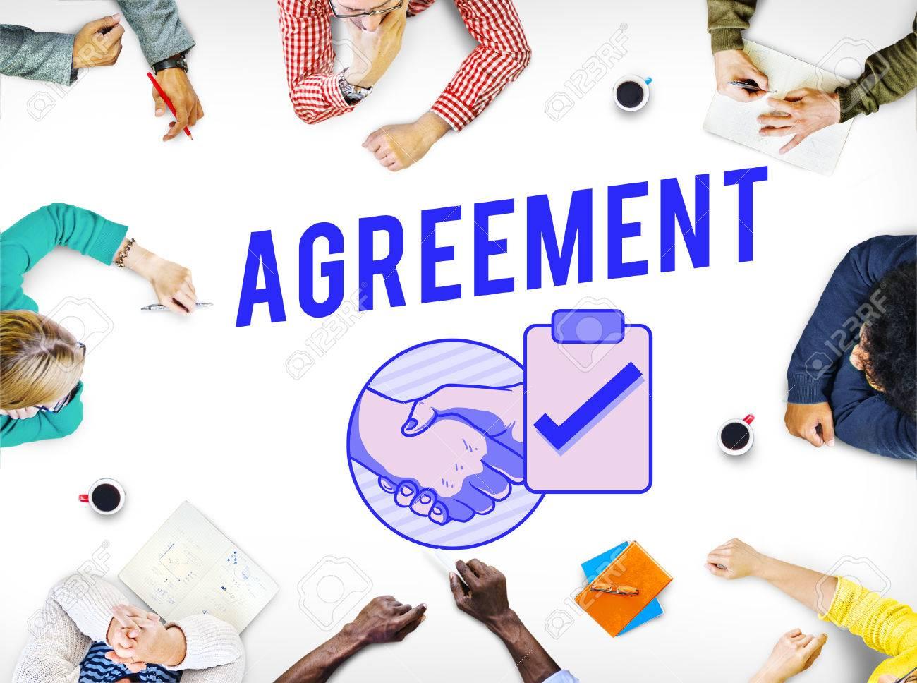 Geschäftsvereinbarung Deal Handshake Graphic Konzept Lizenzfreie ...