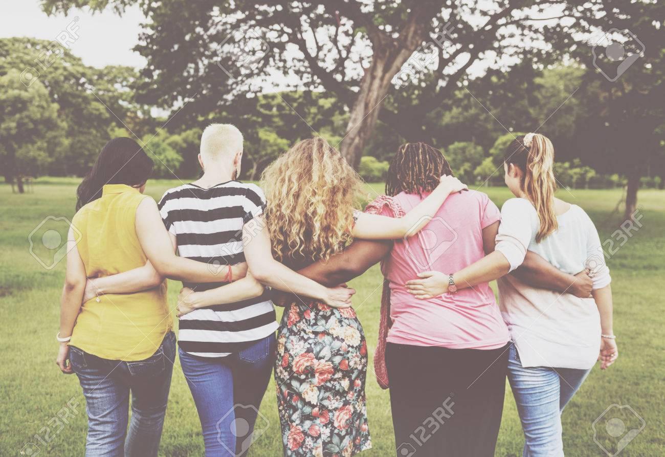 Women Female Feminism Lady Madam Friends Concept Banque d'images - 62637421