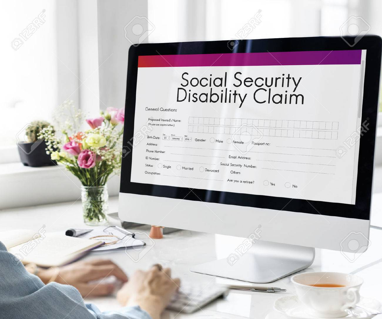Social Security Disability Claim Concept Standard-Bild - 63057499