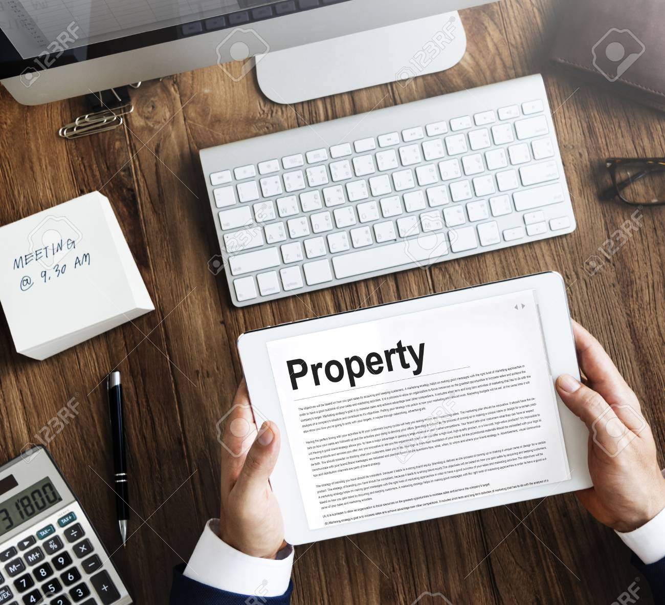 Property Release Form Assets Concept Stock Photo, Picture And ...