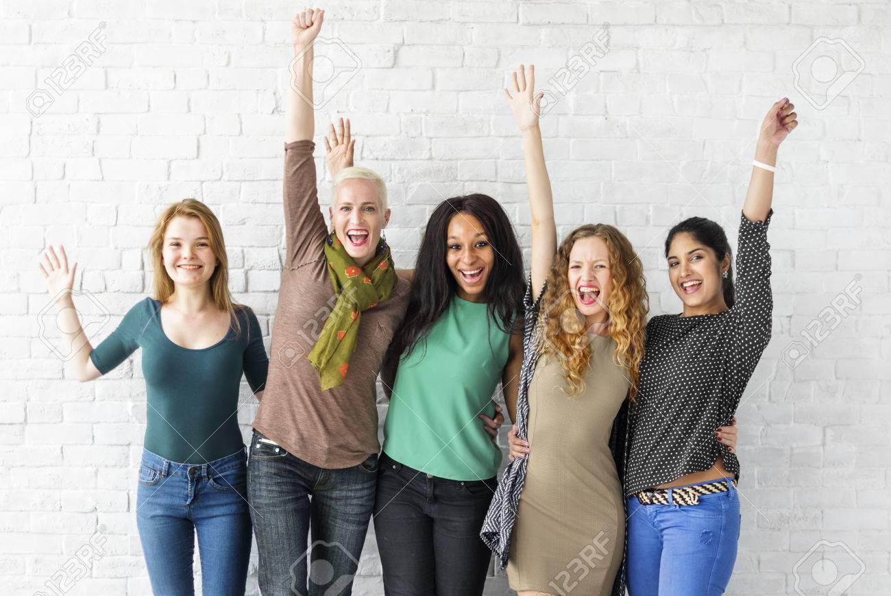 Group of Women Happiness Cheerful Concept Standard-Bild - 63268624