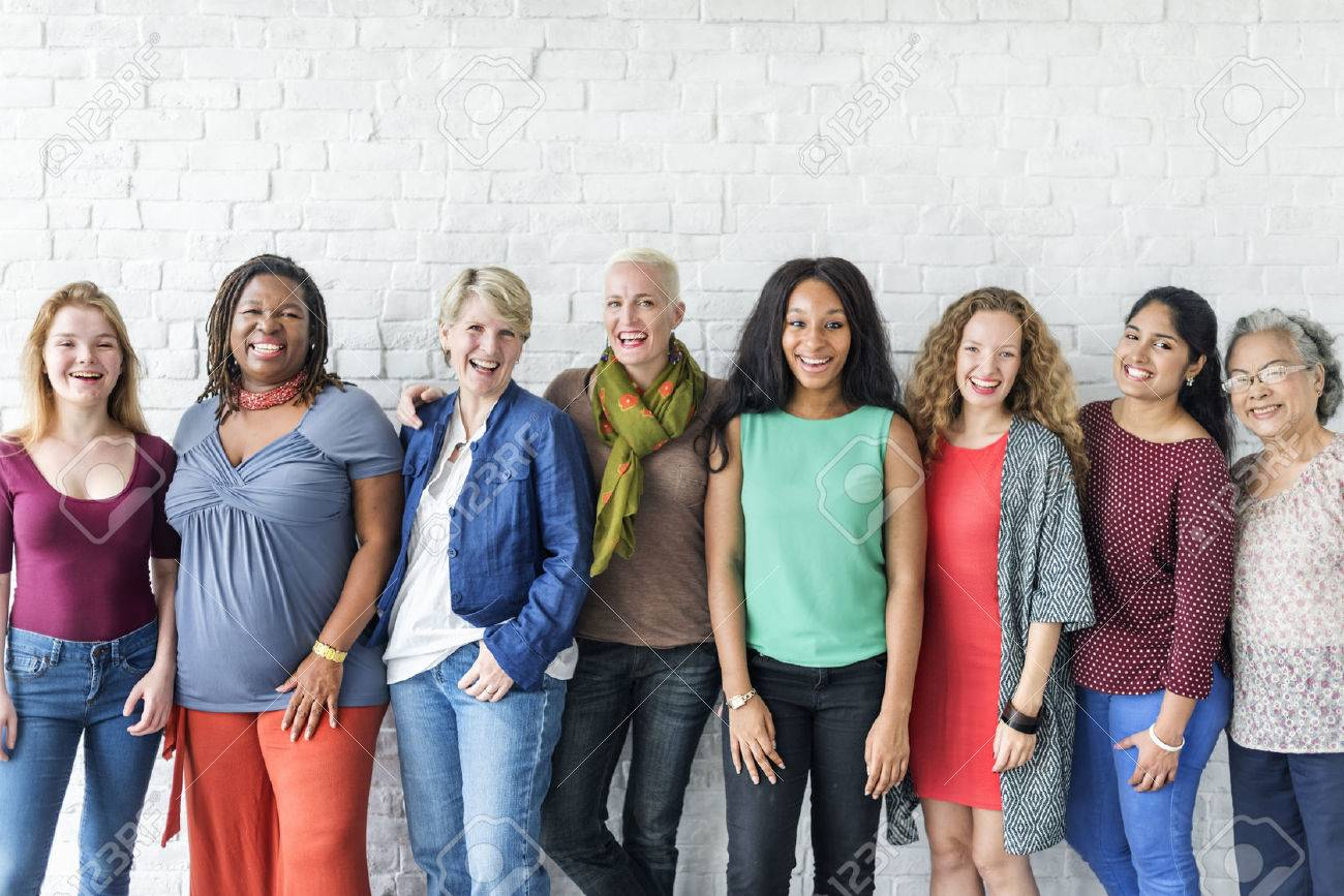 Group of Women Happiness Cheerful Concept Standard-Bild - 63504808