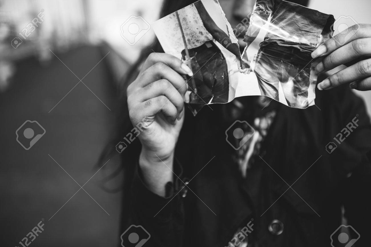 Love Broken Heart Hurt Pain Sad Separation Concept Stock Photo