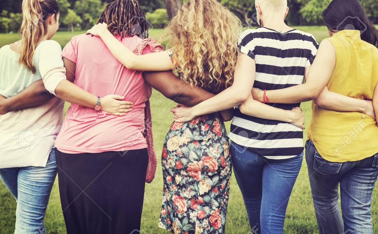 Women Female Feminism Lady Madam Friends Concept Banque d'images - 63429298