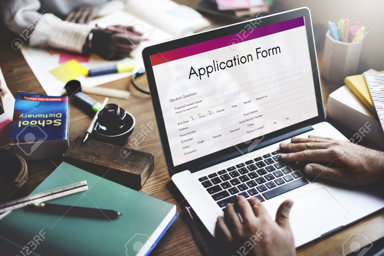 Formulaire de demande de document de remplissage Concept Banque d'images - 63491565