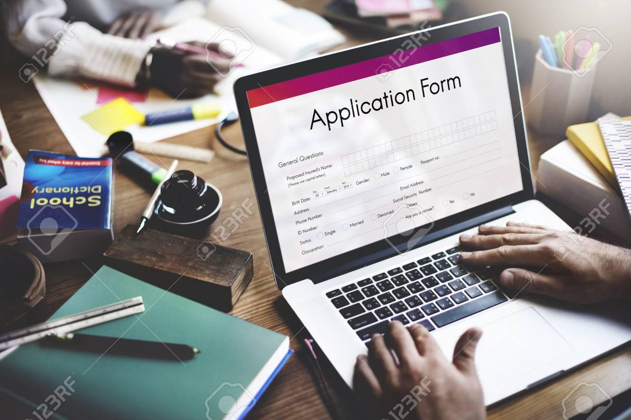 Application Form Document Filling Concept - 63491565