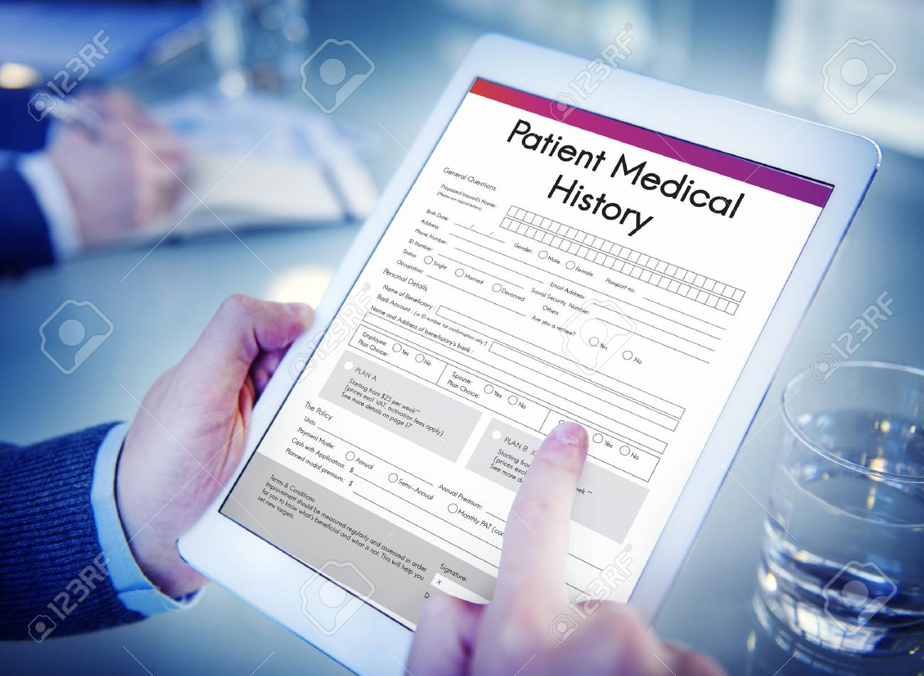 patient medical history form concept stock photo picture and