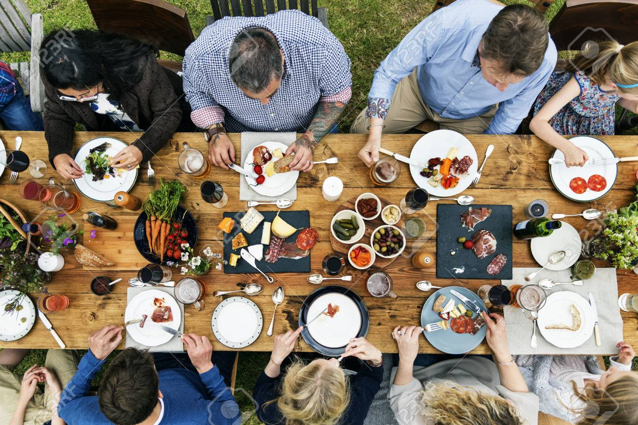 Group Of People Dining Concept Standard-Bild - 63564008