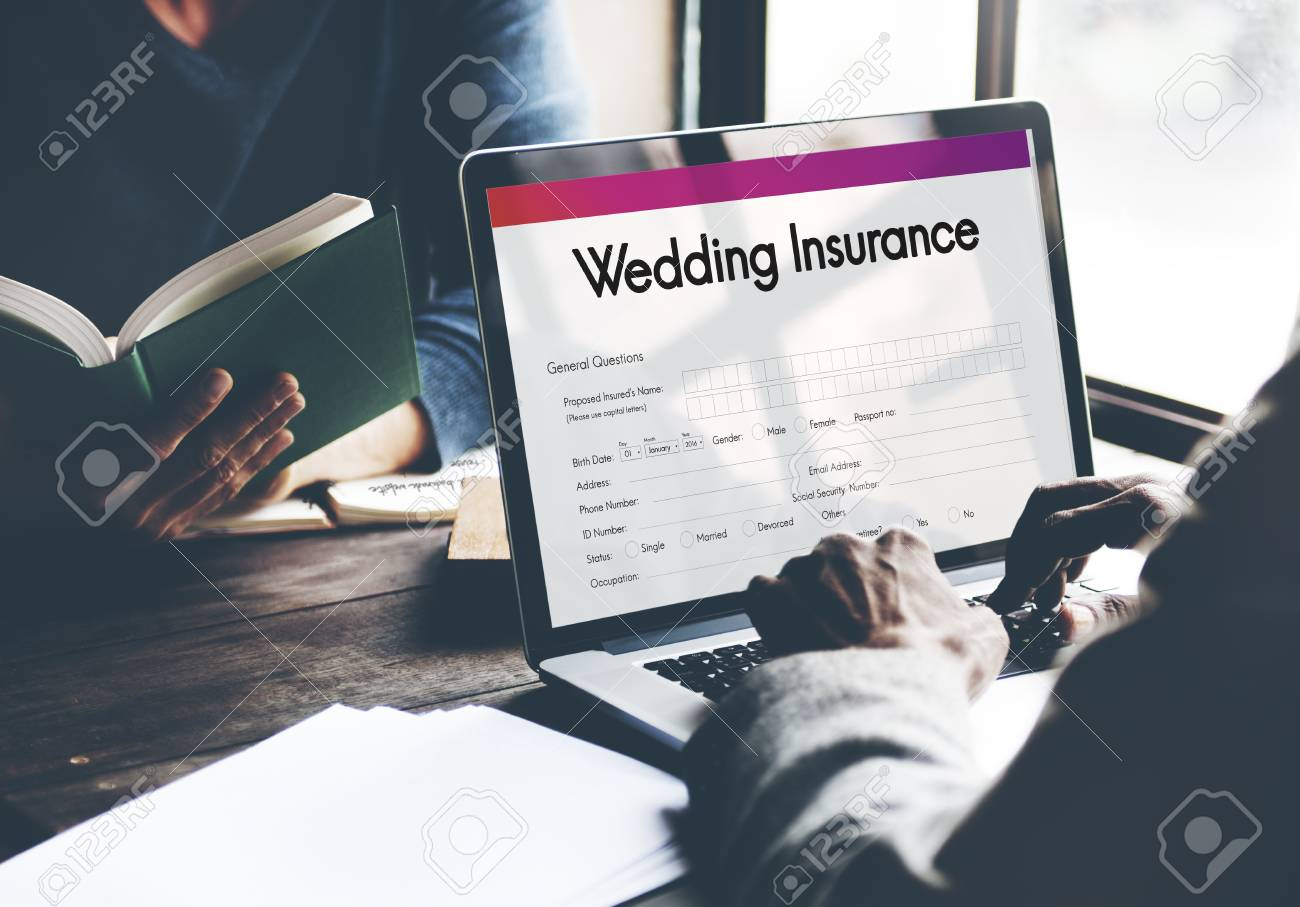 Wedding Insurance Marriage Form Concept Stock Photo Picture And