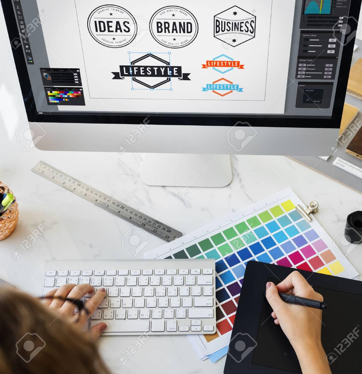 Ideas Creative Occupation Design Studio Drawing Startup Concept - 63710407