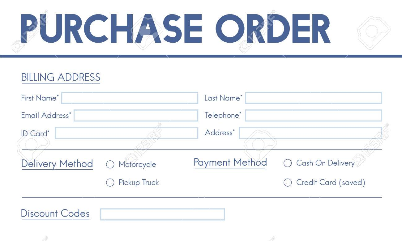 invoice billing information form graphic concept stock photo