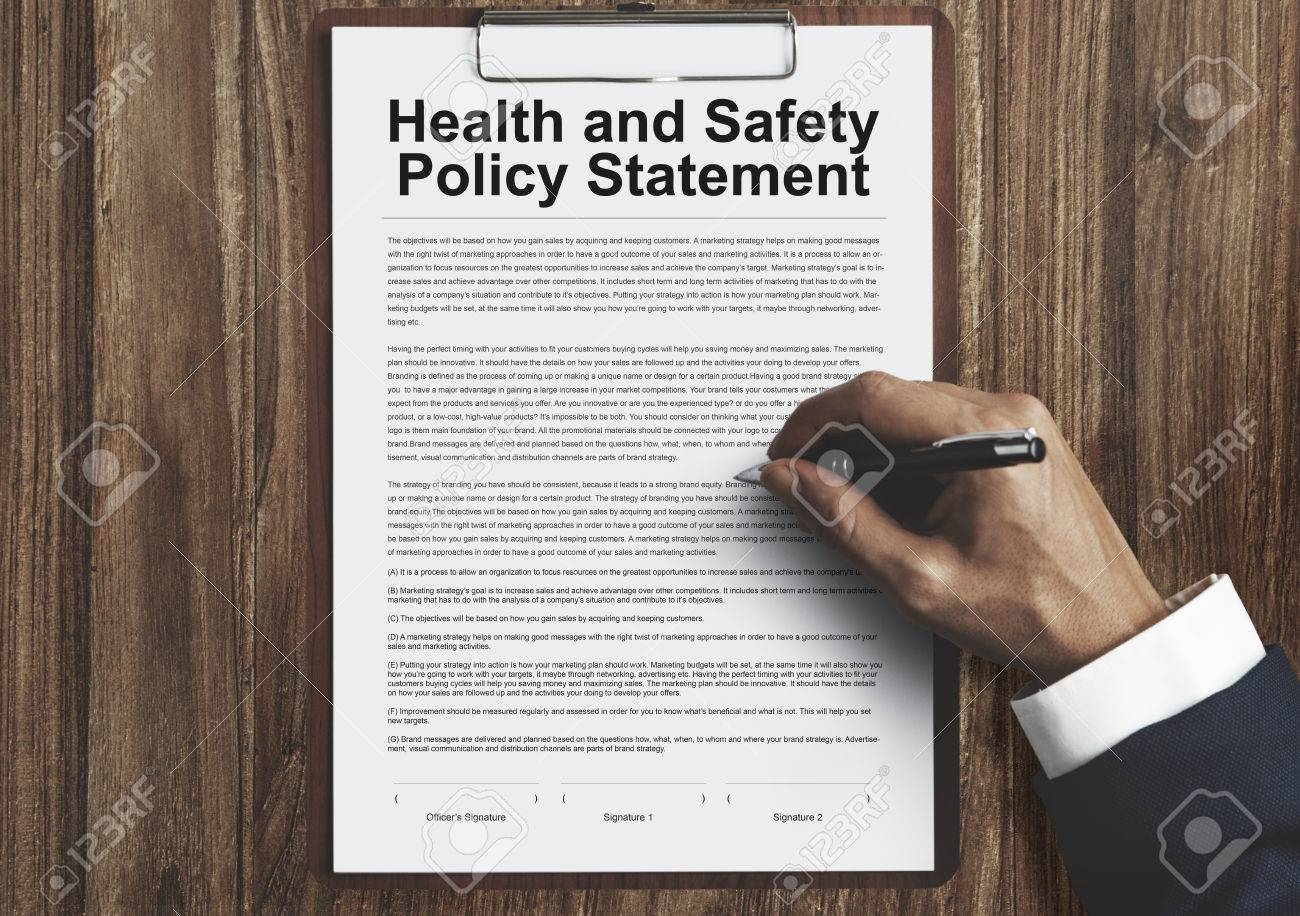Health And Safety Policy Statement Form Concept Stock Photo, Picture ...