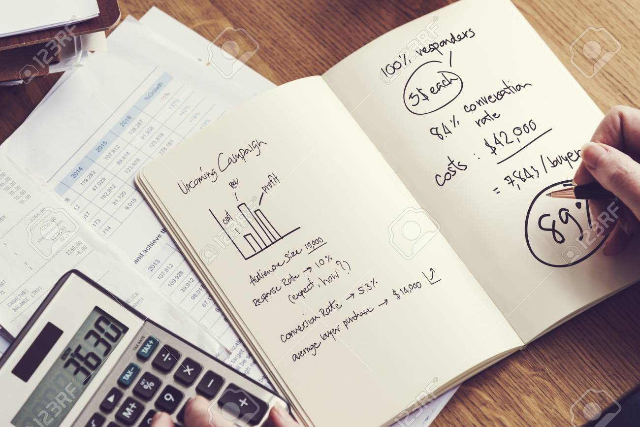 financial calculate budget calculator balance concept stock photo