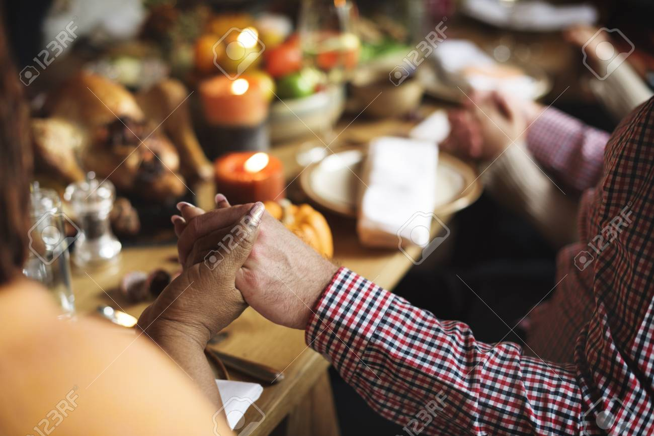 Thanksgiving Celebration Tradition Family Dinner Concept Banque d'images - 65167395