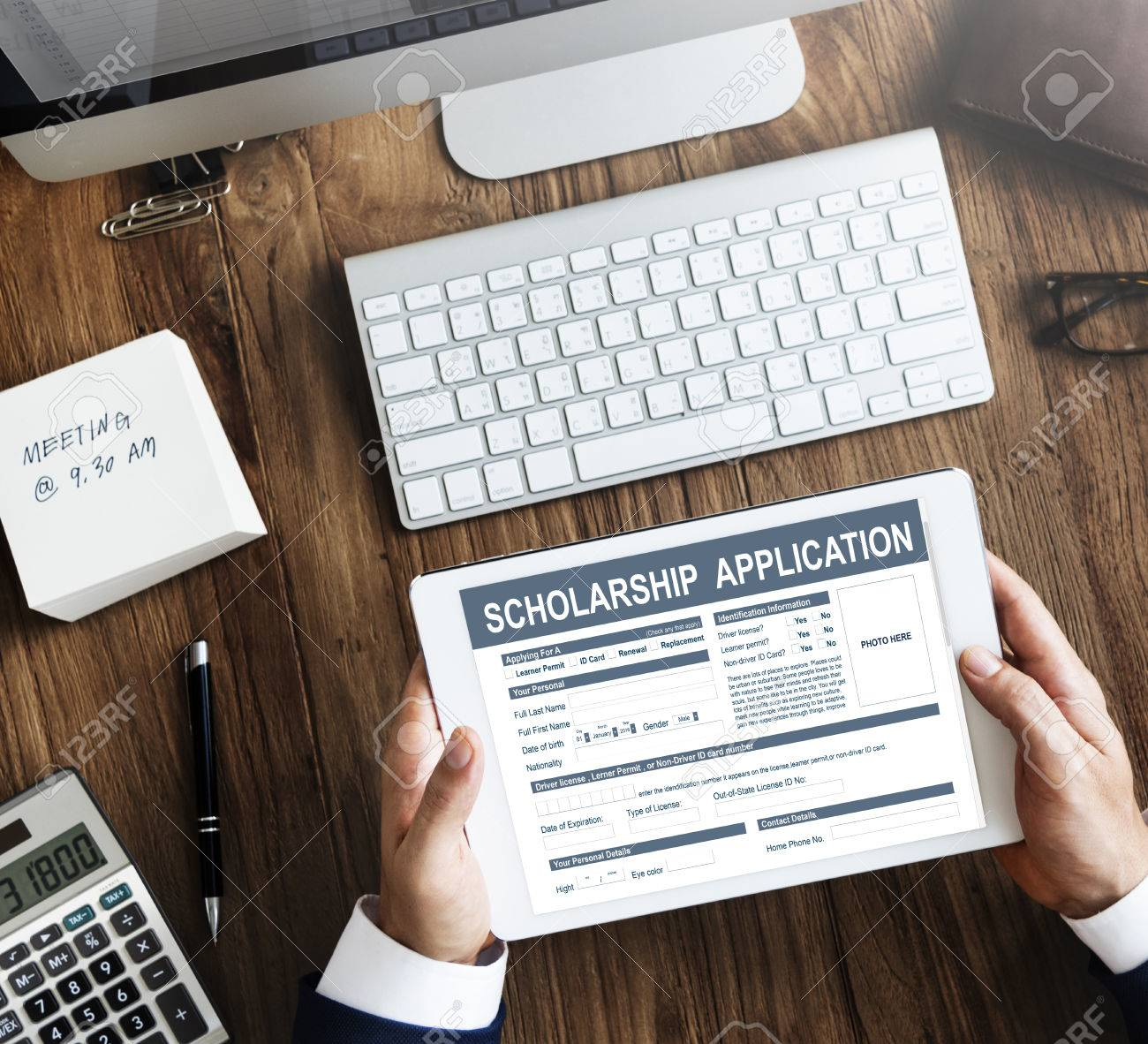 Scholarship Application Form Foundation Concept Stock Photo Picture And Royalty Free Image Image 64934214