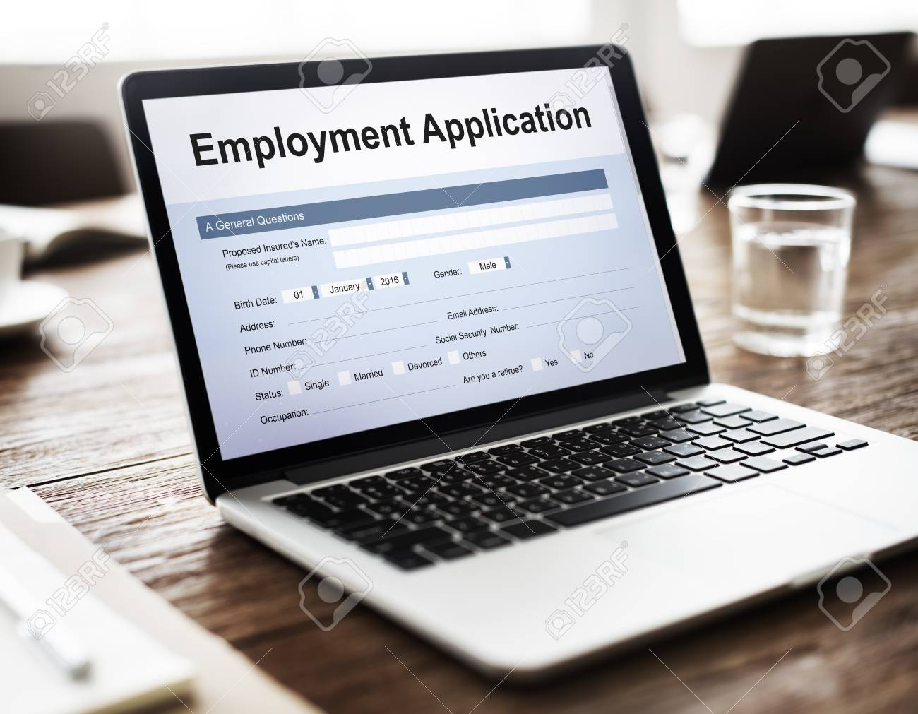 Employment Application Agreement Form Concept Stock Photo Picture