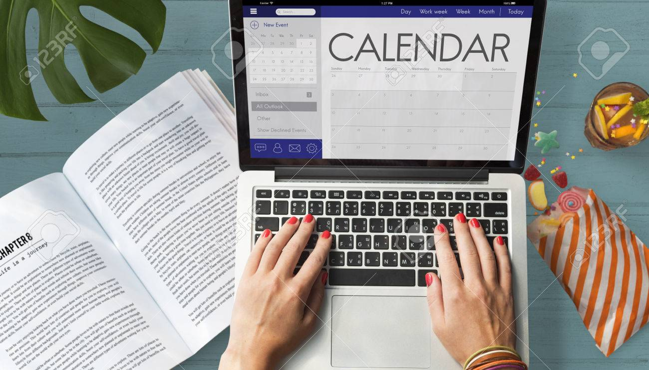 Calendar Date Organizer Planner Concept Stock Photo, Picture And ...