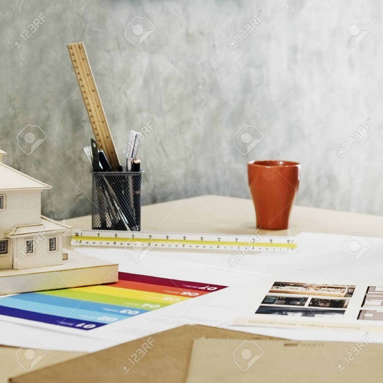 Design Studio Architect Creative Occupation Blueprint Office