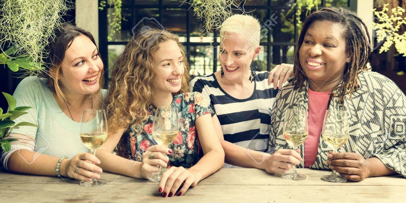 Women Communication Together Happy Concept Standard-Bild - 66510339