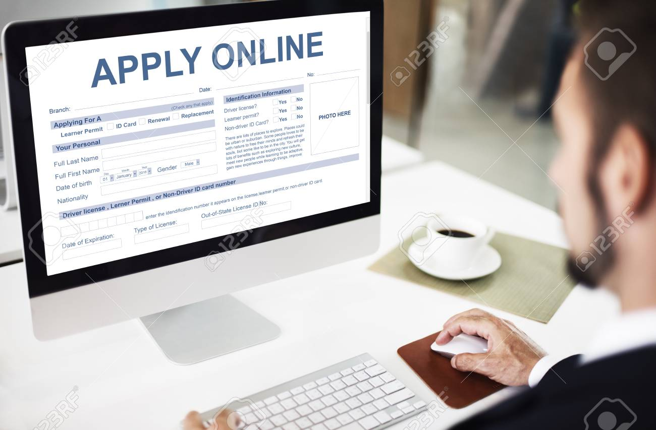Apply Online Application Form Recruitment Concept Stock Photo, Picture And  Royalty Free Image. Image 66512103.