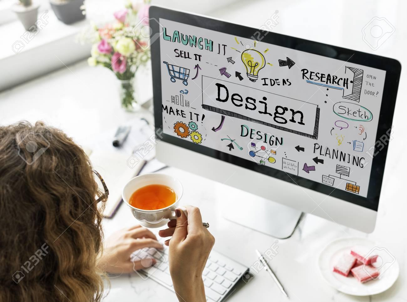 Design Creative Ideas Objective Planning Sketch Concept Stock Photo - 66531783