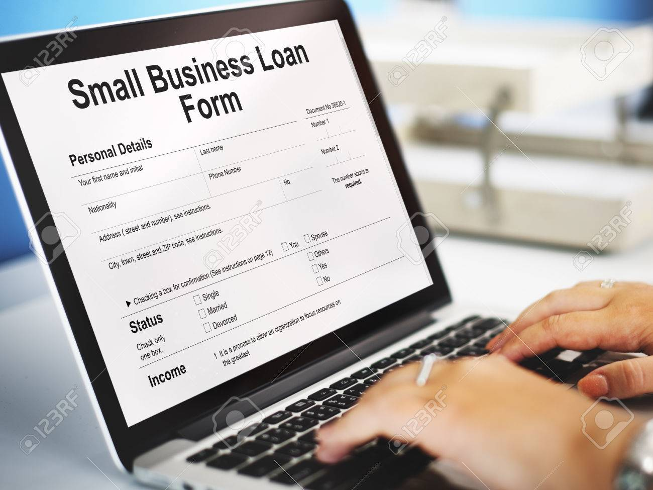 small business loan form ownership concept stock photo picture small business loan form ownership concept stock photo 66737815