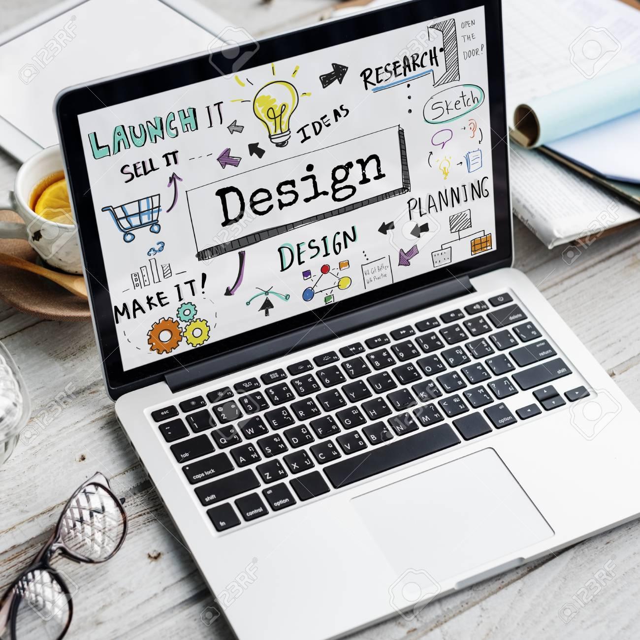 Design Creative Ideas Objective Planning Sketch Concept Stock Photo - 67124133