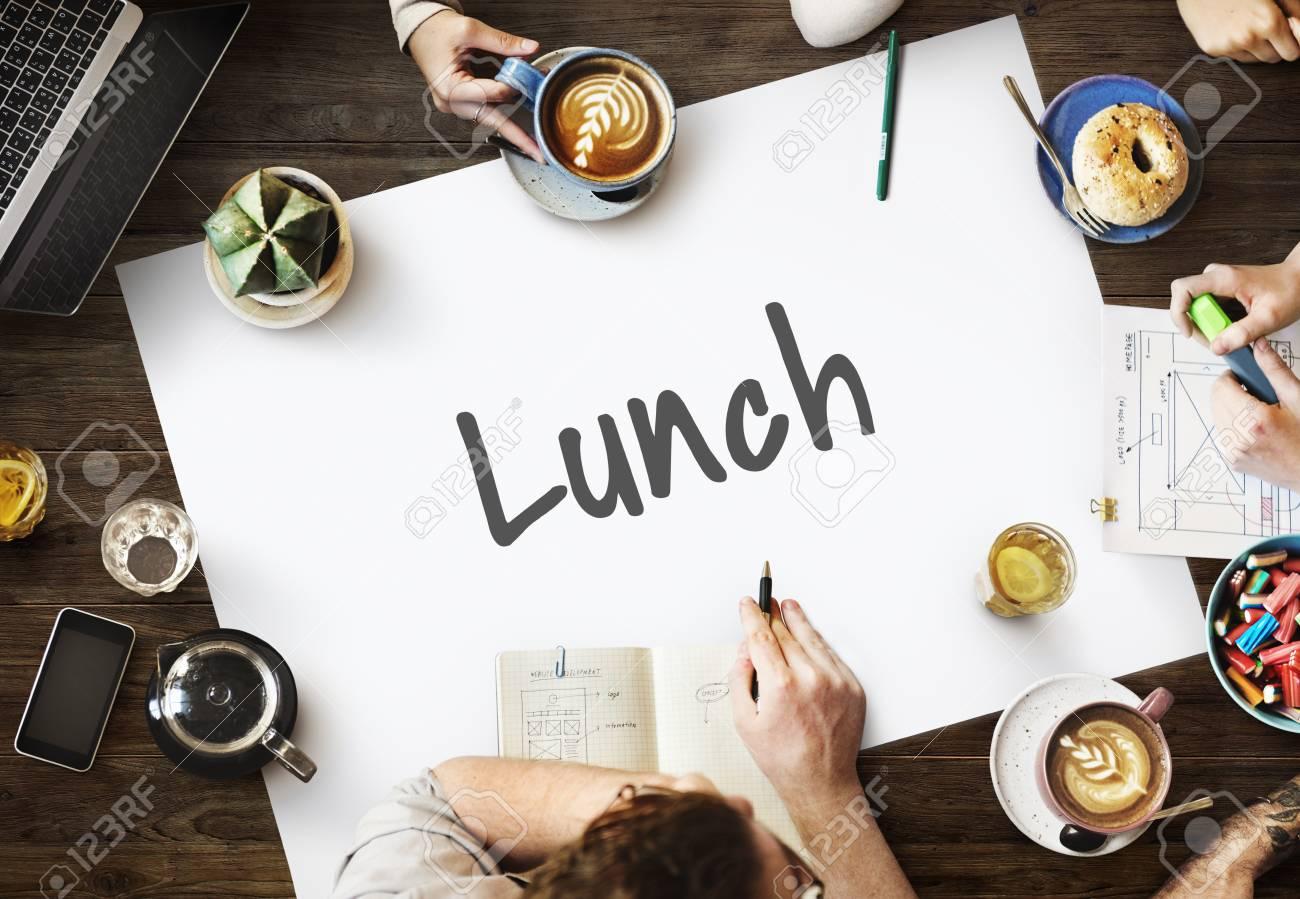 Zeit Für Die Mittagspause Mahlzeit Food Cuisine Gesundes Essen ...