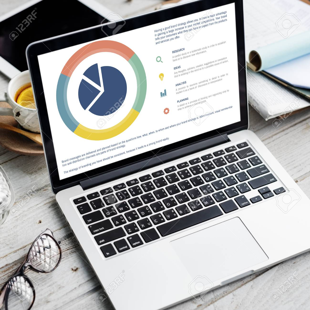 Small Business Analysis Pie Chart Concept Stock Photo Picture And