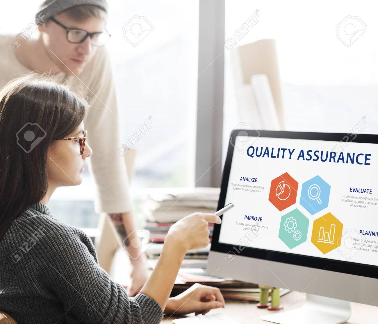 Quality Assurance Guarantee Warranty Trustworthy Concept Standard-Bild - 68845891